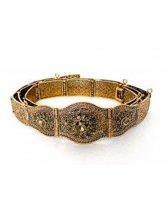 ceinture métal bronze doré  - 2