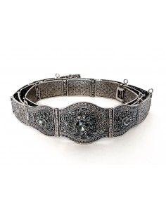 ceinture métal bronze argenté  - 1