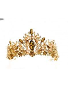 Diademe Couronne tiare ambre  - 1
