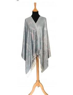 étole pashmina gris perle  - 1