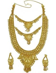 Parure Bijoux indiens plaque or bahu  - 1