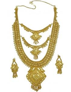 Parure Bijoux indiens plaque or bahu bollywood  - 1