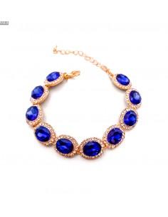 Bracelets strass et pierres bleu et doré  - 2