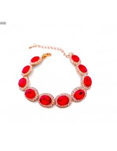 Bracelets strass et pierres rouge et doré  - 1