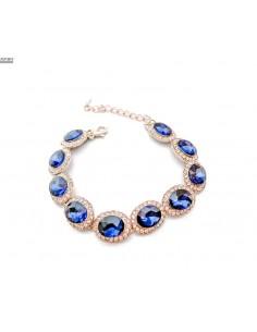Bracelets strass argenté et pierres bleu  - 2