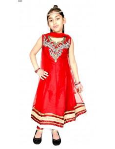 Salwar Kameez MANISHA rouge et doré  - 2