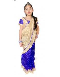 Sari fille enfant prêt à porter violet  - 1