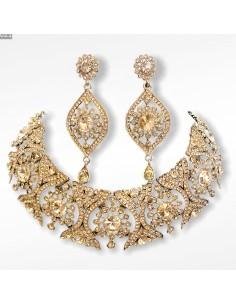 Parure bijoux indiens bollywood Doré ESP15  - 1