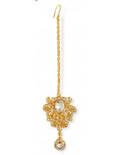 Maang Tikka (Bijoux de tête) doré  - 1