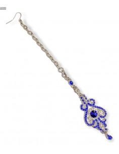 Maag Tikka Bijoux tete front bleu argente  - 1