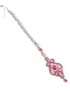 Maag Tikka Bijoux tete Front rose argente  - 1