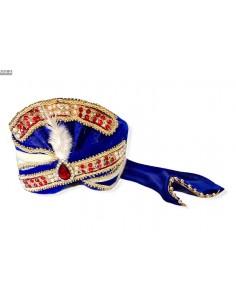 Pagdi Chapeau indien Bleu  - 1