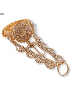 Bijoux de main indien doré  - 1