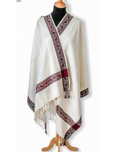 pashmina Echarpe indienne Pashmina Blanc  - 1
