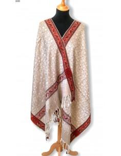 Pashmina écharpe indienne beige  - 1
