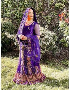 Lehenga Choli Haute Gamme SAGAR Violet  - 1