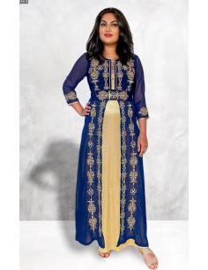 Caftan abaya takchita Bleu JUIL21  - 1