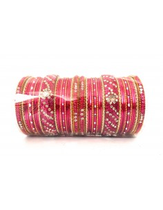 Bangle indien perlé Rose...