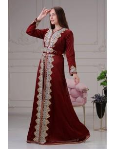 Caftan Rouge Robe oriental Chic  - 1