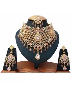 Parure Bijoux indien doré...