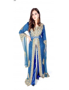 Caftan Bleu robe oriental Kaftan moderne chic  - 1
