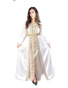 Caftan Cape Blanc robe oriental Kaftan moderne chic  - 1