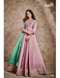 Robe de Soirée Princesse Longue Rose indien vardan  - 2