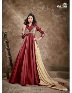 Robe de Soirée Princesse Longue Rouge vardan  - 1