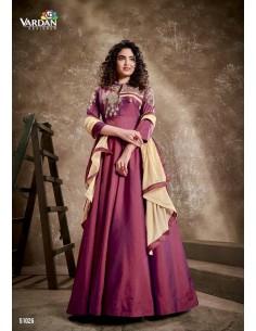 Robe de Soirée Princesse Longue Prune vardan  - 1