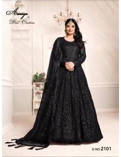 Robe de Soirée Princesse Longue Noir Ansara  - 1