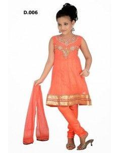 salwar kameez enfant corail