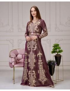 Caftan Takchita Violet Robe oriental SP21  - 1