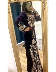 Robe Dubai sultana Bleu et argenté