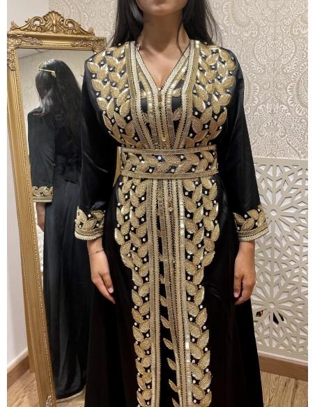 Parure Bijoux indienne Bollywood rouge & Doré 4 pieces