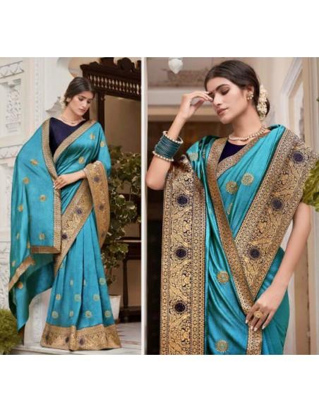 sari-indien-rose-bollywood