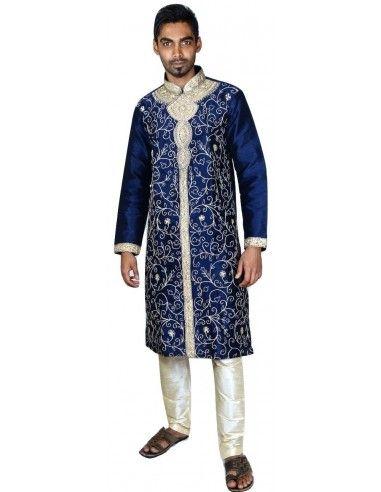 Sherwani homme Bleu marine NOV16