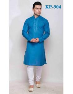 Salwar Kameez Style Robe de soirée fille Bleu