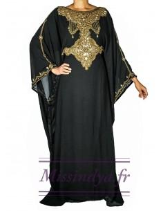 Robe de Dubai Noir Amina  - 1