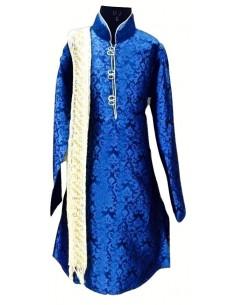 Kurta garçon bleu Royal Manas