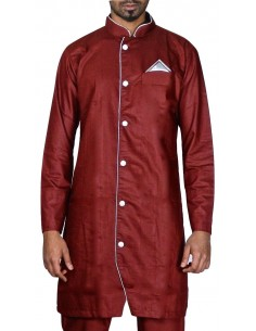 kurta homme Rouge Meher