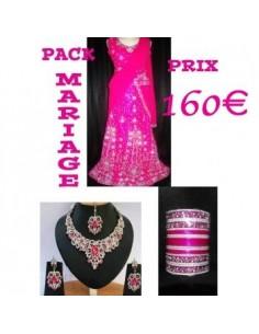 Pack Mariée Lehenga Rose...