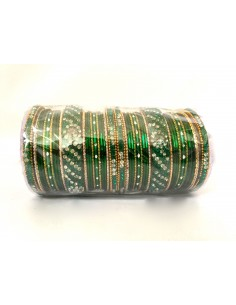 Bangles perlé doré vert GF