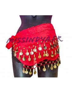 Ceinture de danse orientale Belly dance Rouge  - 1