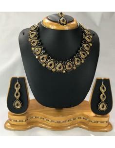 Parure Bijoux indienne Noir...