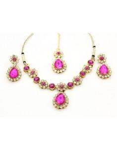 Parure Bijoux indienne Esha Rose  - 1
