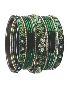 Bangles perlé vert mina