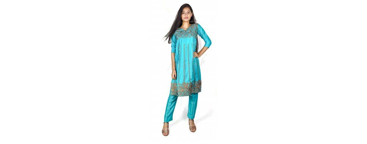 Robe indienne Bollywood complet pour enfant fille - Missindya