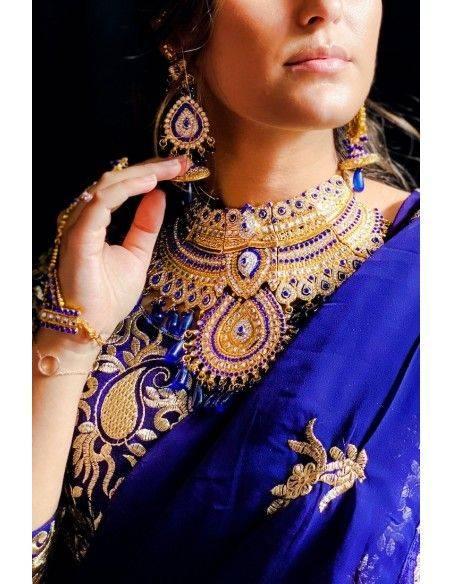 Parure Bijoux indiens Dorée