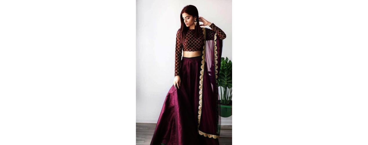 Lehenga choli tenue indienne jupe - missindya