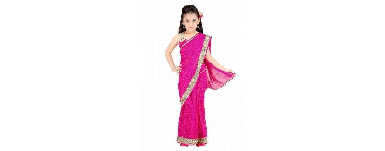Sari indien fille enfant prêt à porter - missindya